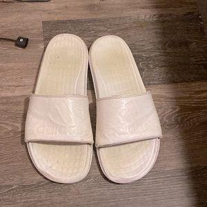 Adidas White Slides Sandals